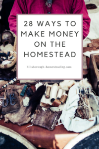 easy ways to make some extra money from home on your homestead