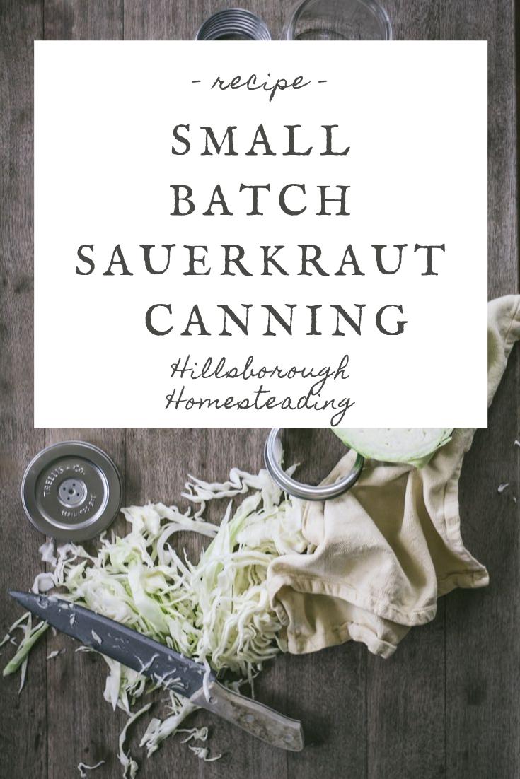 how to make sauerkraut for in a mason jar