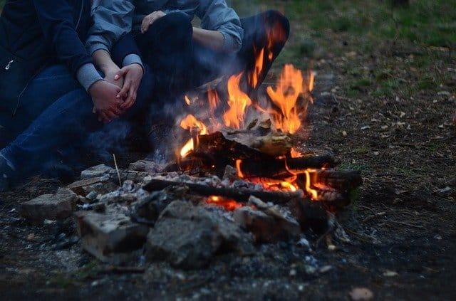 fire pit wood ash