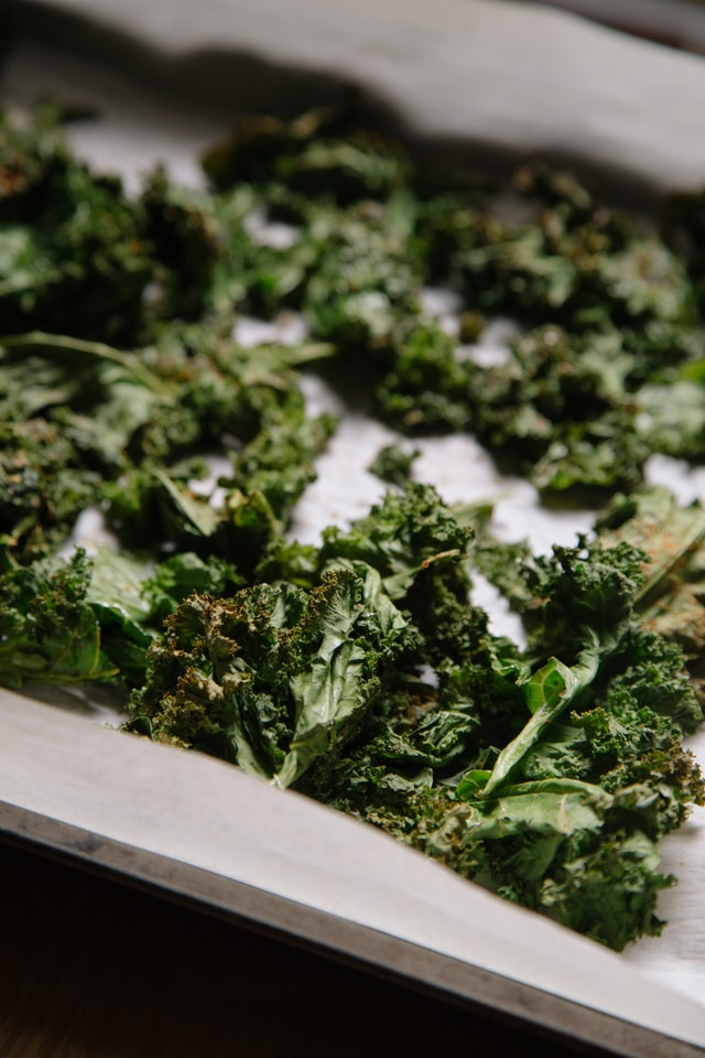 dehydrated kale leaves for preserving