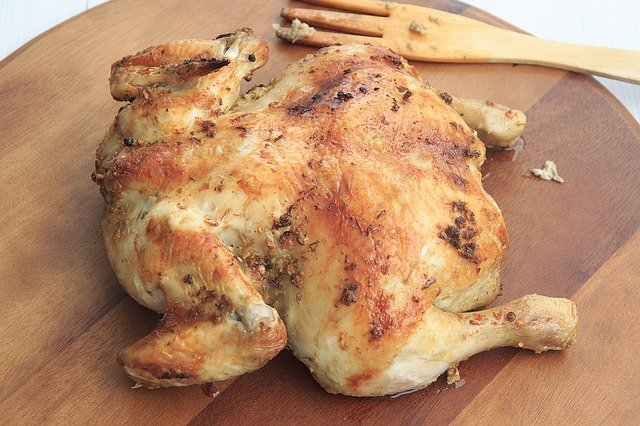 whole chicken cooked in a crockpot