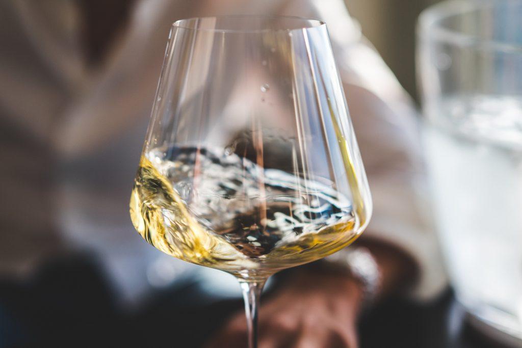 dandelion wine in a glass