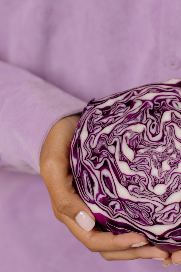 half a head of red cabbage