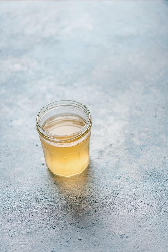 hard apple cider in a mason jar