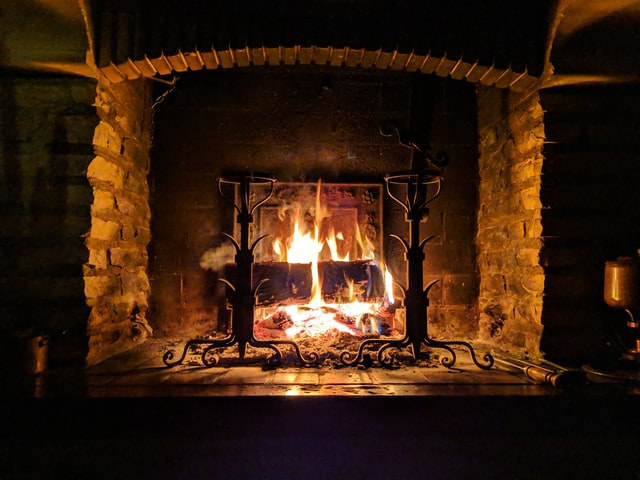 fireplace for keeping warm in winter