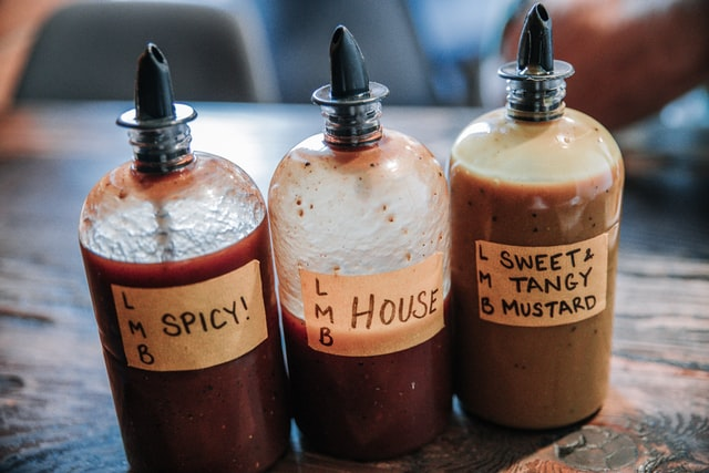 three different homemade barbecue sauces