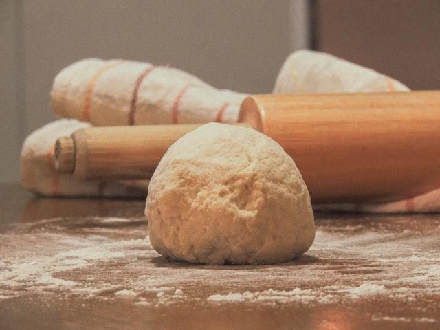 a ball of bread dough