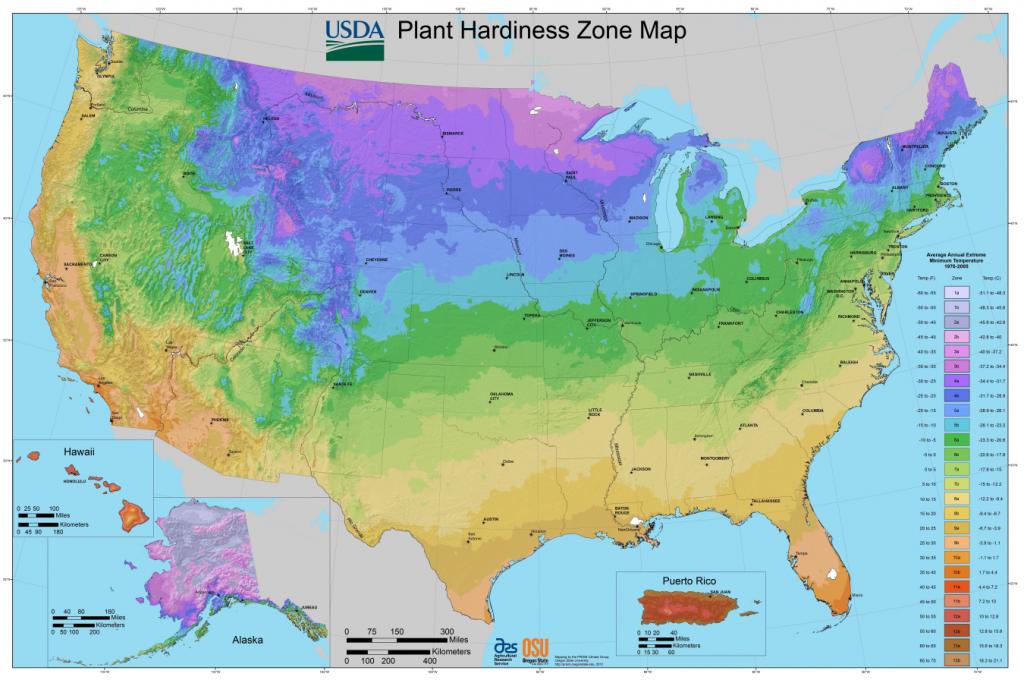 USDA Garden Zone Map